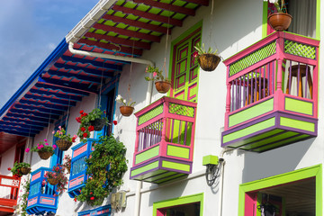 Fototapete - Colorful Balconies in Salento