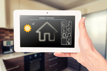 Remote home control system on a digital tablet or phone