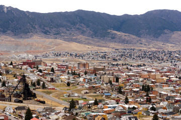 High Angle Overlook Butte Montana Downtown USA United States