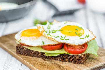 Fresh made Fried Egg Sandwich