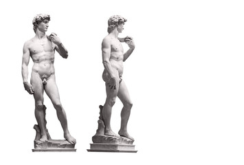 David Statue by Michelangelo in Galleria dell'Accademia (uffizi museum) in Florence. Italy. Wall mural