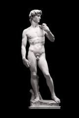 David Statue by Michelangelo in Galleria dell'Accademia (uffizi museum) in Florence. Italy.