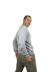 734 - man with sweater and pants