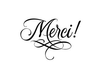 Merci Calligraphic Lettering