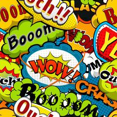 Bright and multicolored Comics Speech Bubbles Seamless Pattern illustration