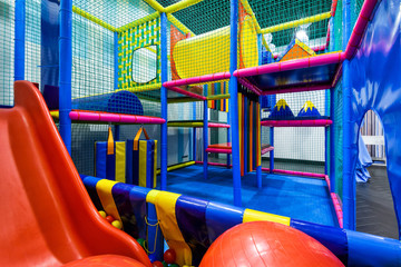 Modern playground in the room