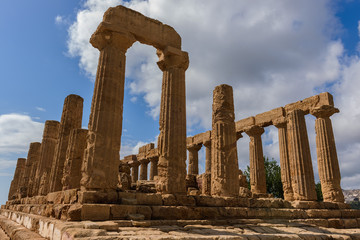 The Temple of Juno in the Valley of Temples near Agrigento, Sicily (Italy)