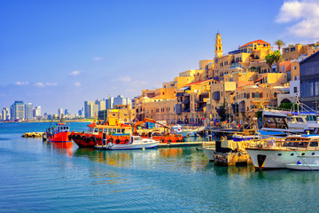 Wall Murals Middle East Old town and port of Jaffa, Tel Aviv city, Israel