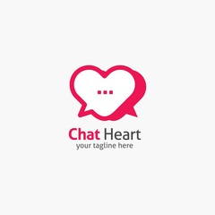 Heart Shape Logo design vector template. Corporate branding identity. Flat design