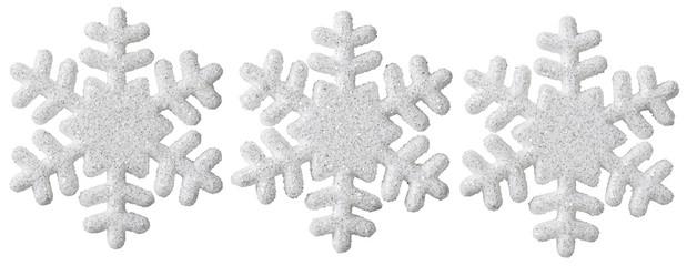 Snowflake Christmas Decoration, White Isolated Xmas Snow Flake