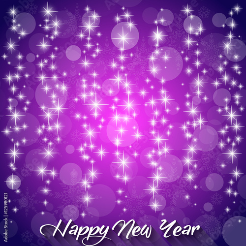 elegant happy new year 2017 purple background vector illustration