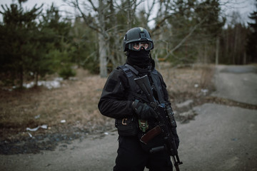 Russian FSB officer in assault gear.