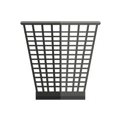 Trash Basket Vector Illustration in Flat Style Design  Web
