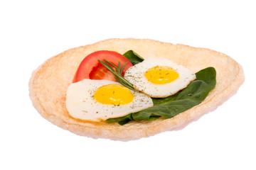 Sandwich with scrambled eggs.
