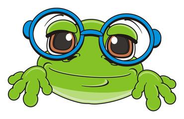 muzzle, face, glasses, animal, cartoon, toad, frog, toy, amphibian, reptile, croak, ribbit, happy, smiling
