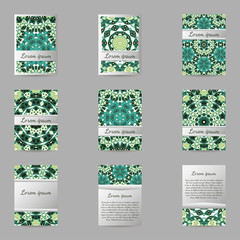 Set of flyers, brochures, templates design.