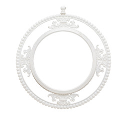 vintage classical white circle frame