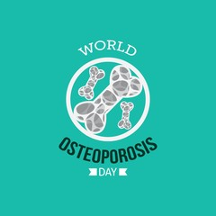 Vector illustration of World Osteoporosis day. Suitable for greeting card, poster and banner.