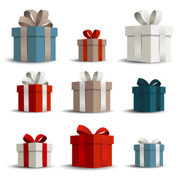 Vector Illustration of Gift Boxes