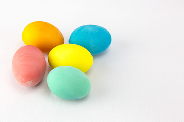Multicolour Easter eggs