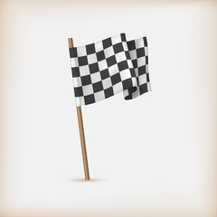 Realistic Checkered Racing Flag. Vector