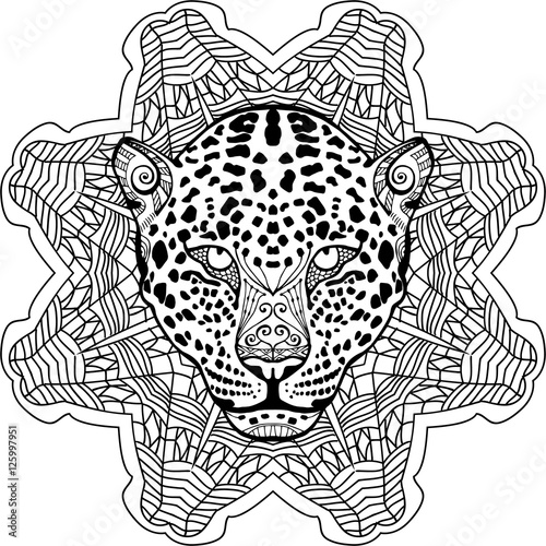 Painted The Leopard On The Background Tribal Mandala Patterns New Zendoodle Patterns