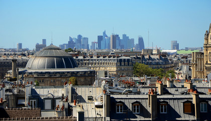 Panoramic view of the roofs Paris, France