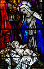 Wall Mural - The Nativity (stained glass)