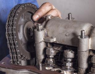Repair car engine