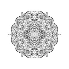 Vector Beautiful Deco Mandala, Patterned Design Element, Ethnic