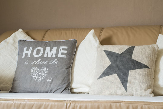 Home is where the heart pillow sofa couch