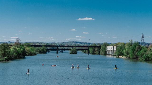 Water activities on Townlake Austin