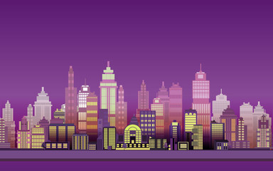 City Game Backgrounds with mountains and retro old cars ,2d game application. Vector Illustration for your application , project.