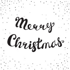 Merry Christmas Retro Lettering Composition