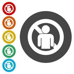 No man icon, No Person symbol