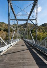 Fototapete - Old Fayette Station bridge in West Virginia