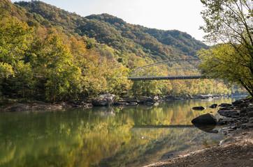 Fototapete - Fayette Station bridge in West Virginia