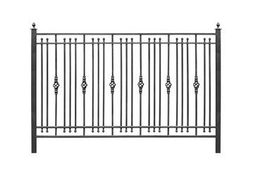 Decorative railing, banisters.