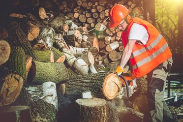 Firewood Logs Preparing