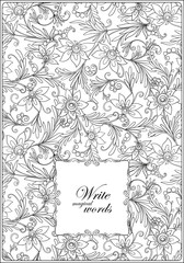 Floral pattern. Flower background. Floral Pattern with hand-draw