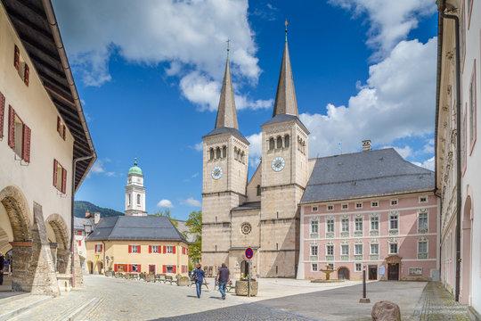 Historic town of Berchtesgaden, Upper Bavaria, Germany