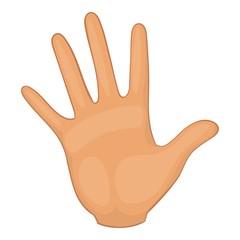 Hand icon. Cartoon illustration of hand vector icon for web design