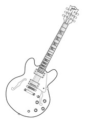 Semi Acoustic Line Drawing