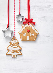 Christmas Gingerbread house and tree Cookies
