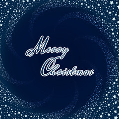 Christmas background with stars and lettering Merry Christmas. Vector illustration