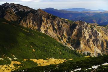 Autumn landscape in Natural Park Retezat, Romania