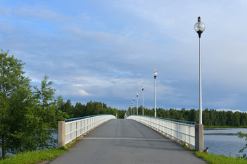 Bridge across river Oulujoki in Oulu, Finland