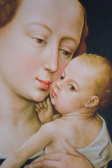 Mary and the Infant Jesus - Painting by R. van der Weyden