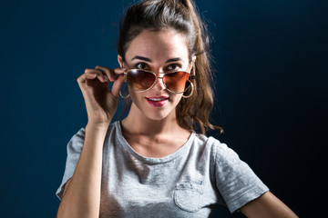 Young woman with sunglasses