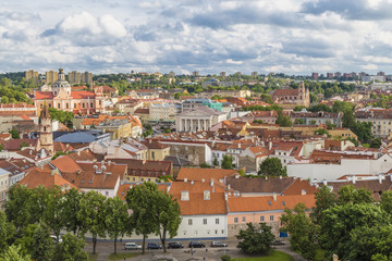 Wall Mural - View of the historic center of Vilnius